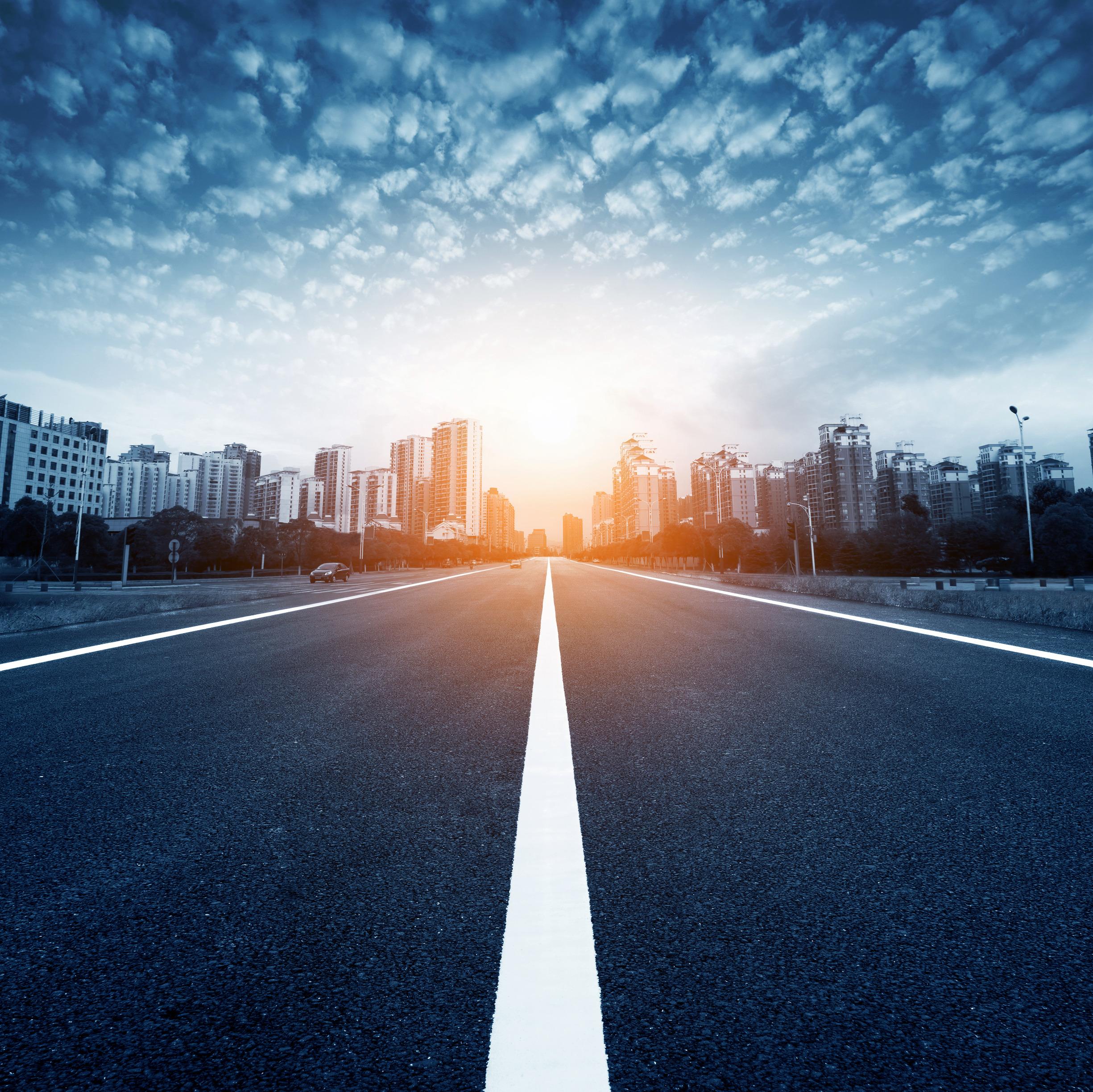 Дорога в городе — Road in the city