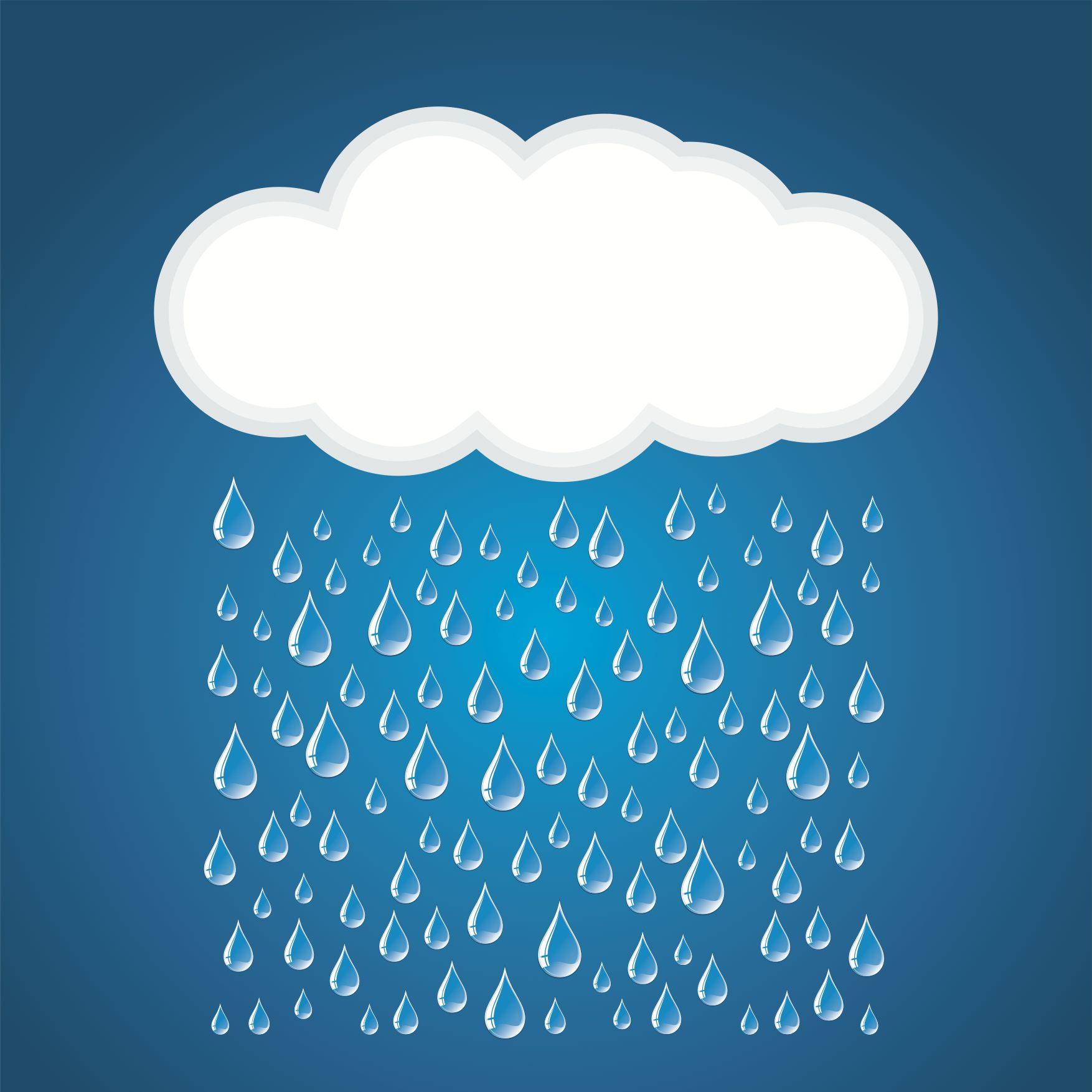 Картинка туча и дождик для детей