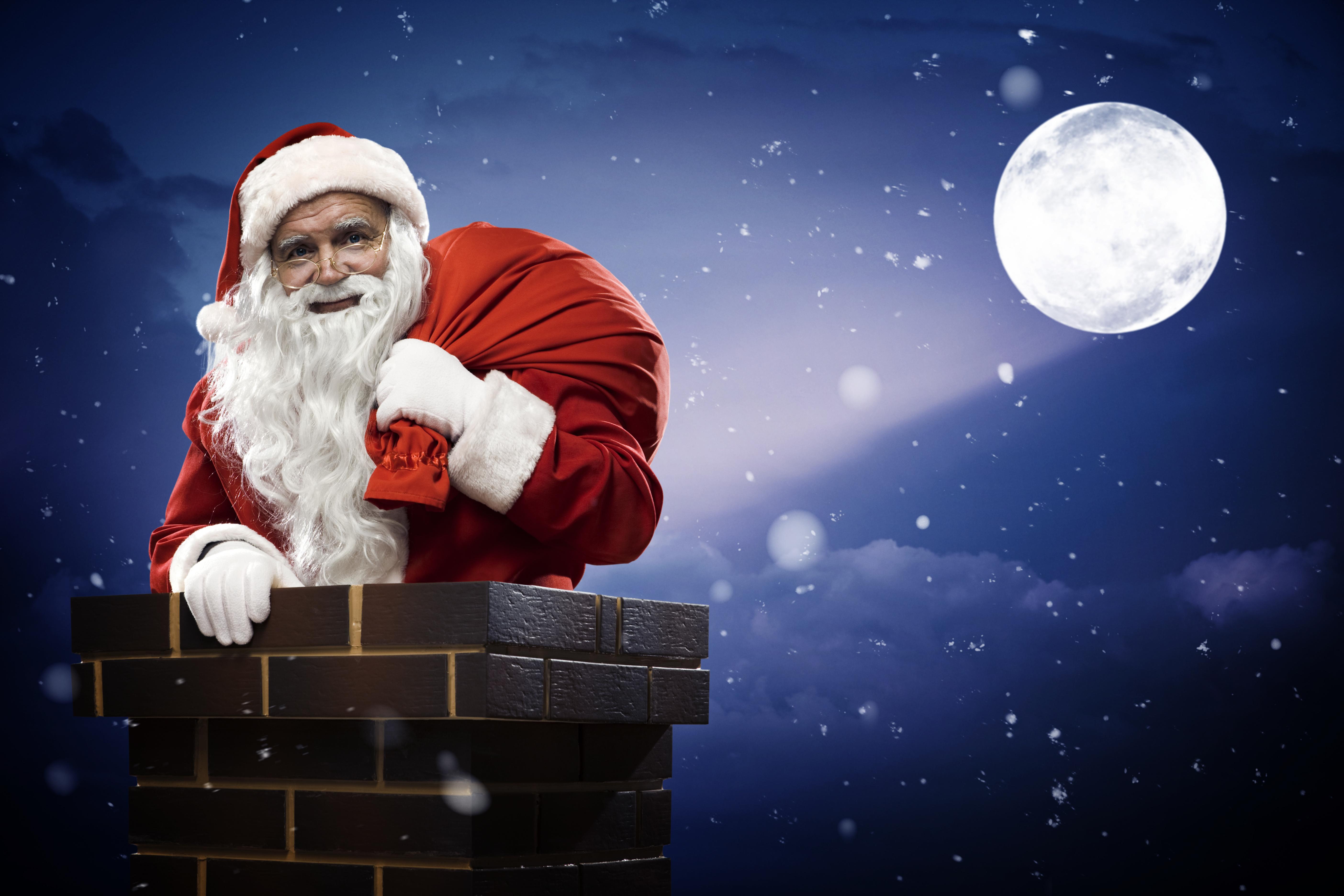 Дед Мороз с мешком скачать