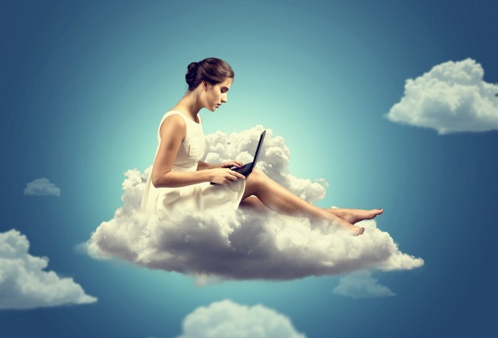 Fotolia 42861170 Subscription Monthly XXL Девушка на облаке — The girl on a cloud