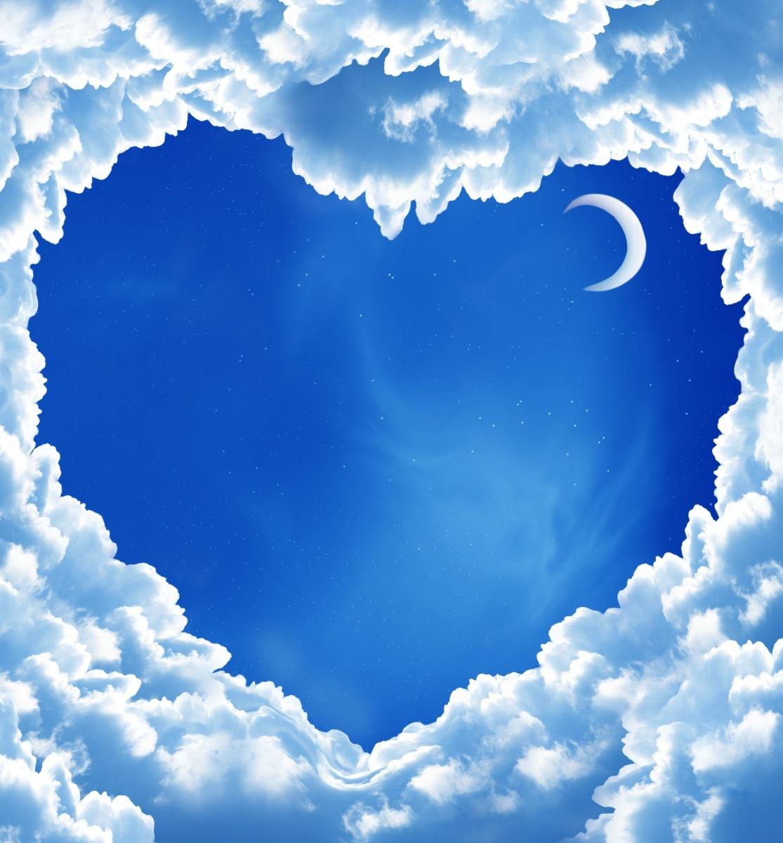 Небо в виде сердца — Heart sky
