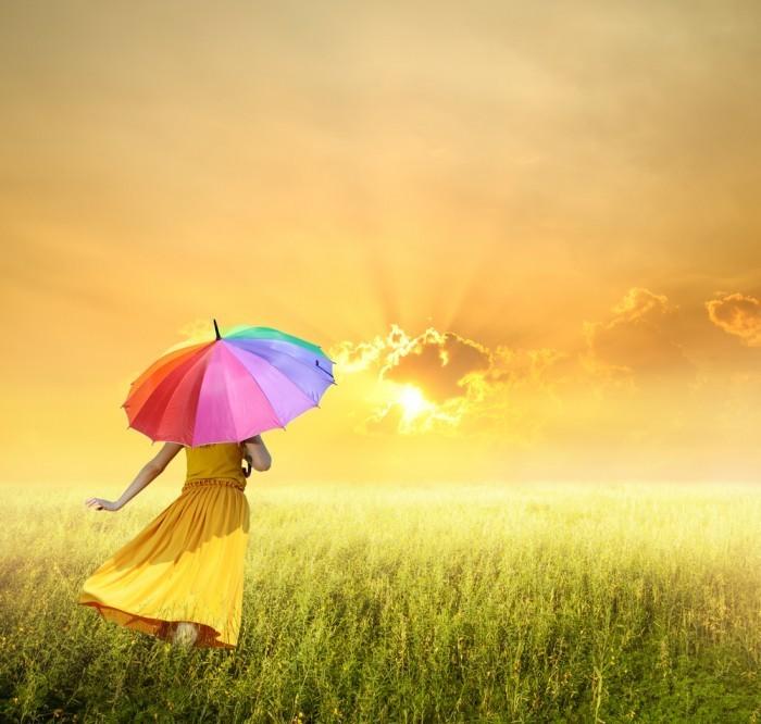 Девушка с зонтиком - Girl with umbrella