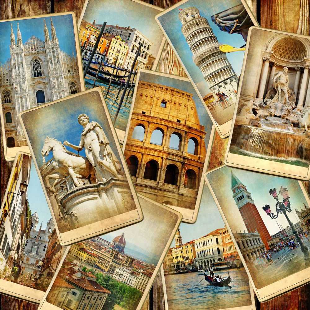 Стоковая фотография с изображением достопримечательностей Италии.