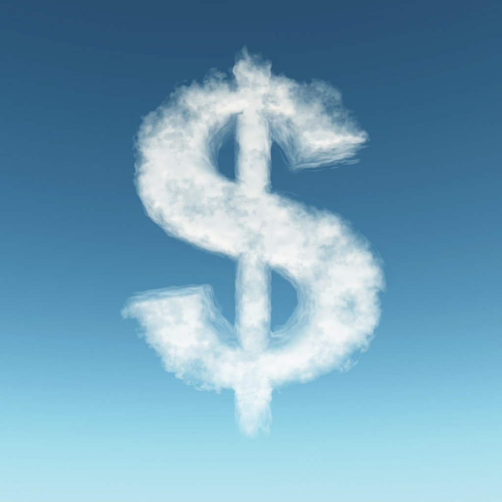shutterstock 22969369 1024x1024 Облако в виде доллара   Cloud in the form of dollar