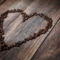 Сердце из кофейных зерен - Heart from coffee beans