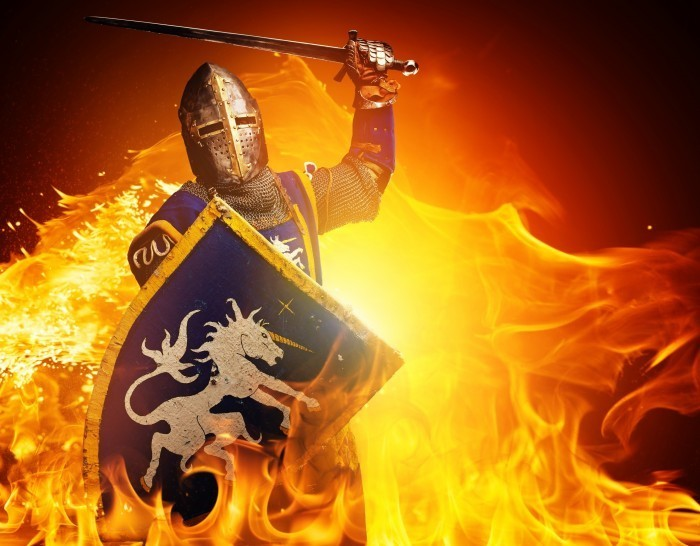 firestock knight 05082013 Рыцарь в огне   Knight is on fire