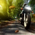 Мотоциклист осенью - motorcyclist fall