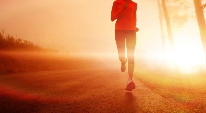 morning jogger sunlight Бег   Running