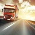 Грузовик на автостраде - Truck on freeway