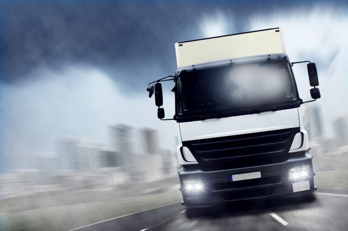 1059 Белый грузовик   White truck