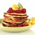 Оладушки с фруктами - Pancakes with fruit