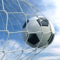 Футбольный мяч в сетке - Soccer ball in the net