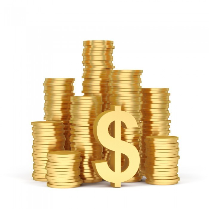 firestock finance 04092013 700x700 Монеты в стопках с долларовым знаком   Stacks of coins with dollar sign
