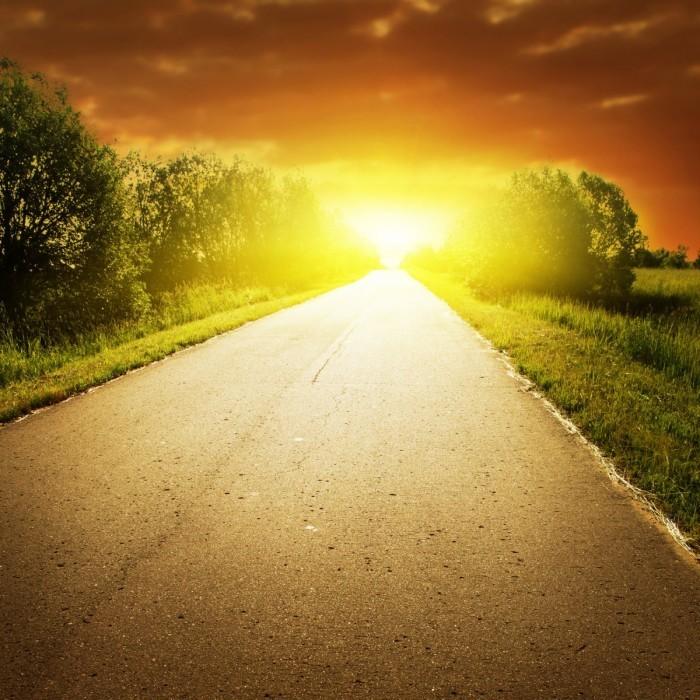 firestock road sunset 020920131 700x700 Дорога на рассвете   Road at dawn