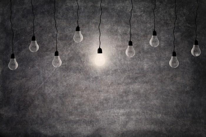 shutterstock 115934344 Лампы на сером фоне   Lamp on a gray background