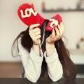 Девушка с сердцем love - Girl with heart love