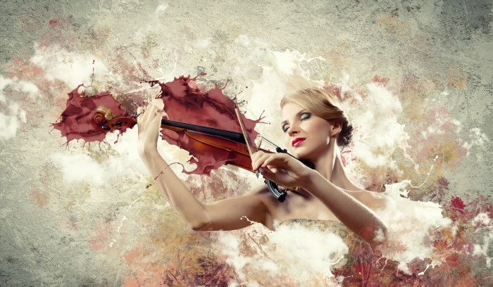 shutterstock 142782766 Женщина со скрипкой   Woman with a violin