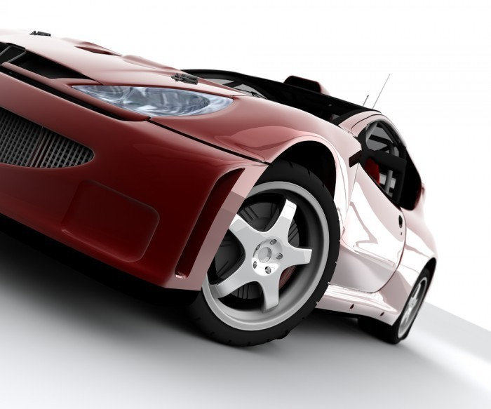 shutterstock 40045726 Красное авто   Red car