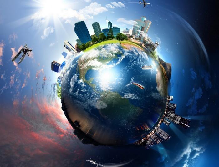 world city Город вокруг земного шара   Сity around the globe