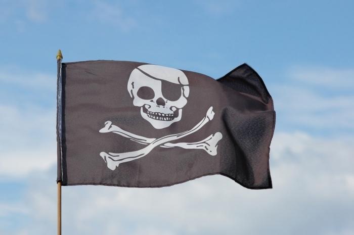 Fotolia 1376485 M Флаг с черепом   Flag with a skull
