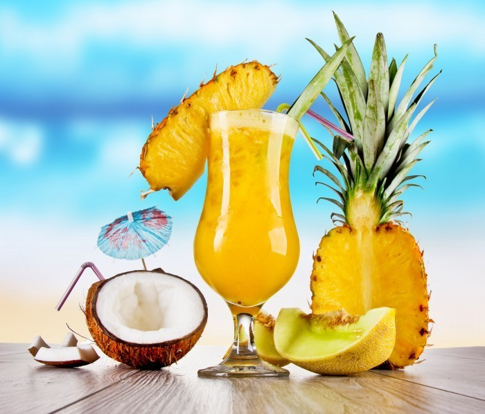 firestock Exotic cocktail 02082013 Экзотические коктейли с ананасом   Exotic cocktails with pineapple