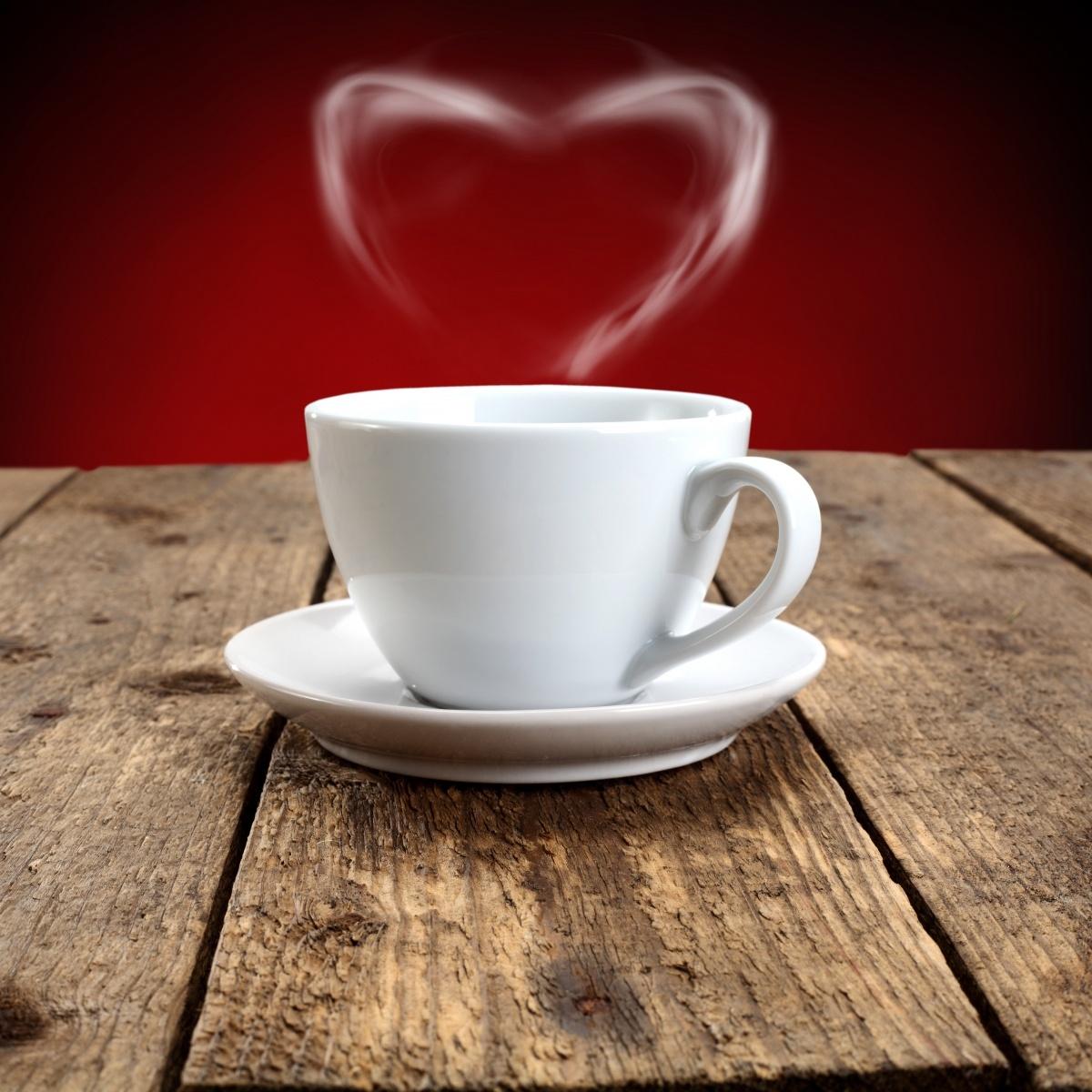 фото чашечки кофе с сердечком возможно