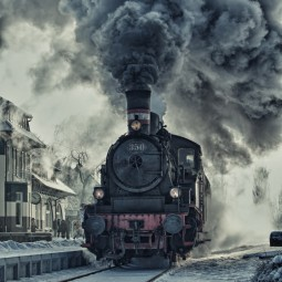 Старый паровоз - Old steam locomotive