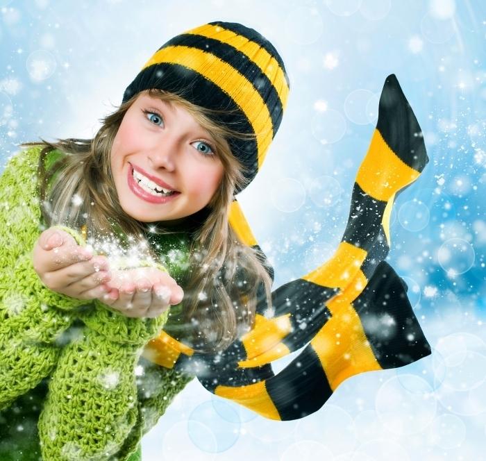 3023349 Девушка и снег   Girl and snow