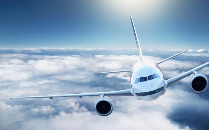 3233 6 Самолет в небе   Plane in the sky