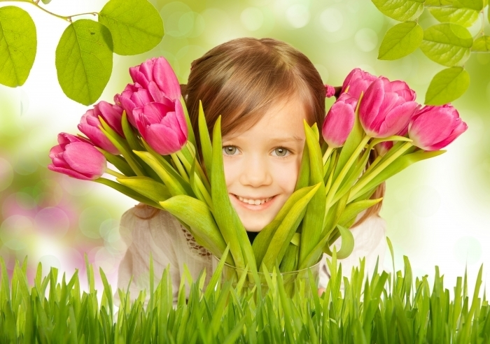 firestock 01 27112013 Девочка с тюльпанами   Girl with tulips