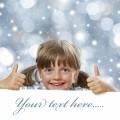 Веселая девочка с хвостиками - Cheerful little girl with pigtails