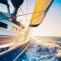 Катер по океану - Boat on the ocean