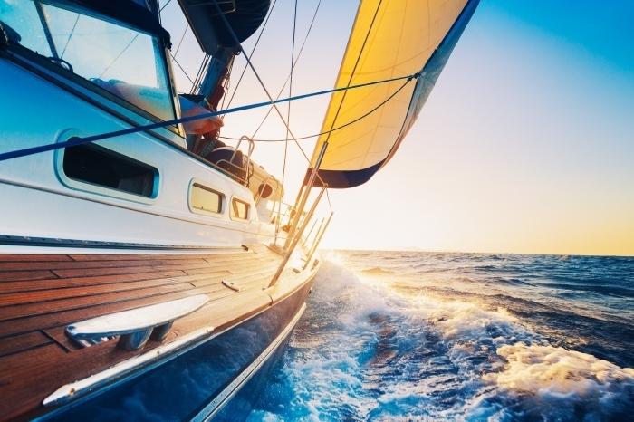 firestock 2711201327 Катер по океану   Boat on the ocean