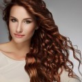 Лицо девушки с каштановыми волосами - Face of girl with brown hair