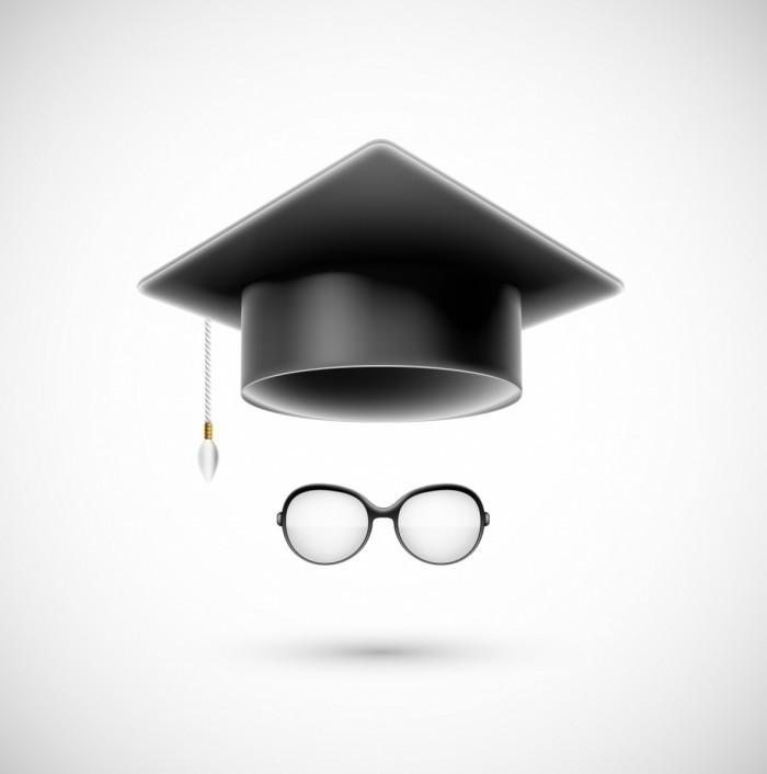 Fotolia 51755315 L 700x706 Студенческая шляпа и очки   Student hat and glasses