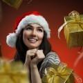 Девушка с рождественскими подарками - Girl with Christmas presents