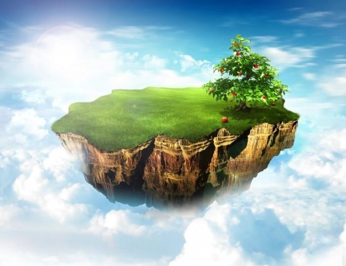 shutterstock 29020477 700x538 Островок в облаках   Island in the clouds
