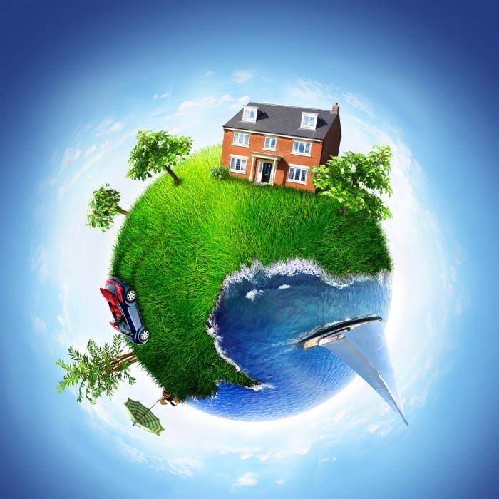 shutterstock 29617354 700x700 Дом, машина, отдых в форме  земного шара   House, car, vacation in the form of the globe