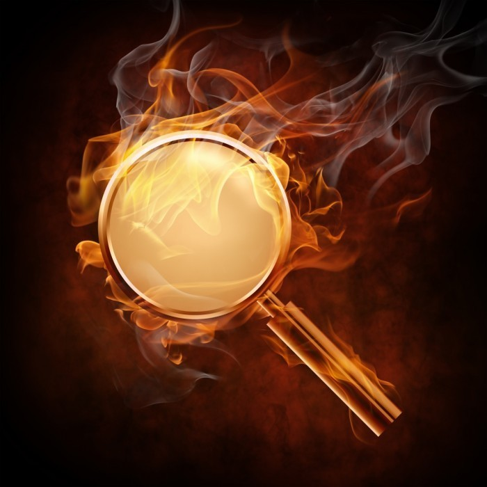 shutterstock 46233835 700x700 Лупа в огне   Magnifying glass in fire
