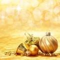 Золотистые шары - Golden balls
