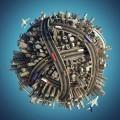 Транспортный узел в форме шара - Transport hub in the form of a globe