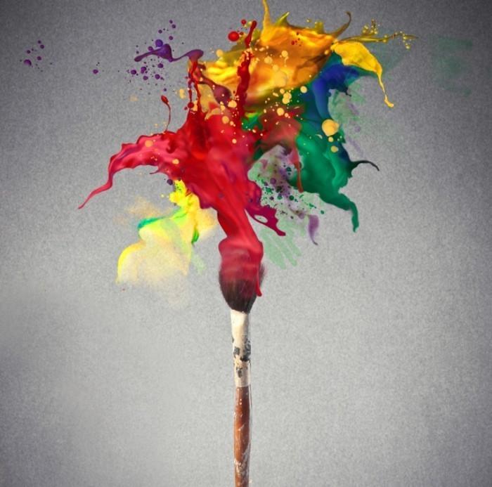Как сделать яркий цвет краски