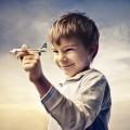 Мальчик с самолетом в руках - Boy with airplane in hands