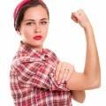 Девушка с кулаком - Girl with fist