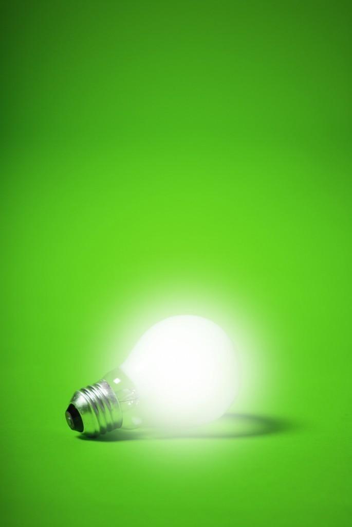 photodune 300275 685x1024 Лампа на зеленом фоне   Bulb on a green background