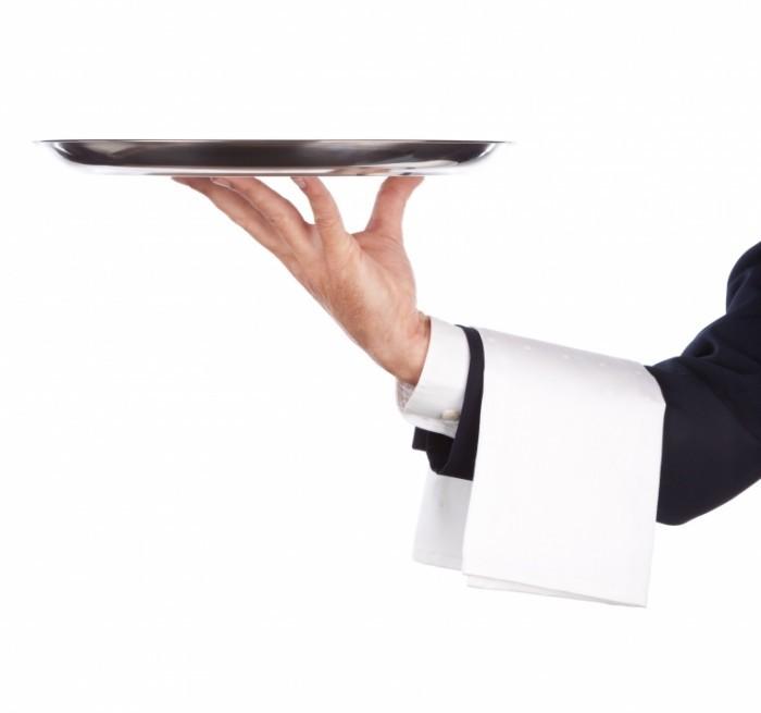 Fotolia 17174004 Subscription XL 700x655 Рука официанта   Hand waiter