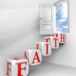 Дверь со словами faith - Door with the words faith