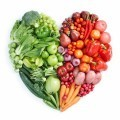 Зеленая и красная здоровая еда - Green and red healthy food