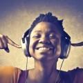 Африканка в наушниках - African headphones