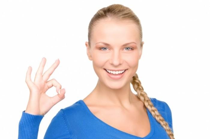 photodune 375781 700x463 Девушка с жестом ок   Girl with a gesture ok